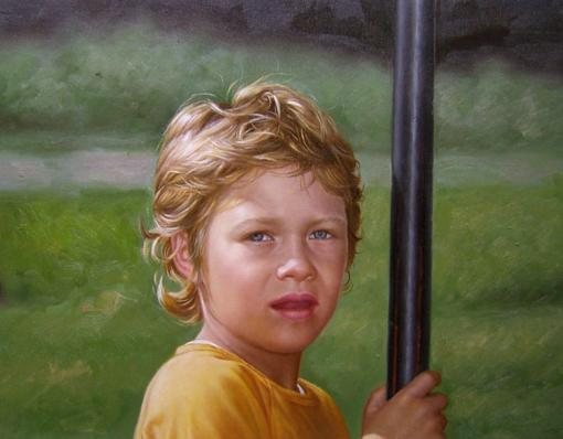 Boy's Oil Portrait