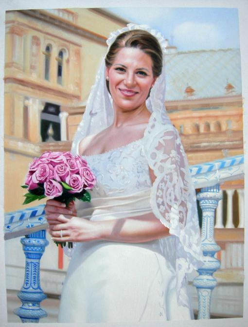 Bridal Oil Painting