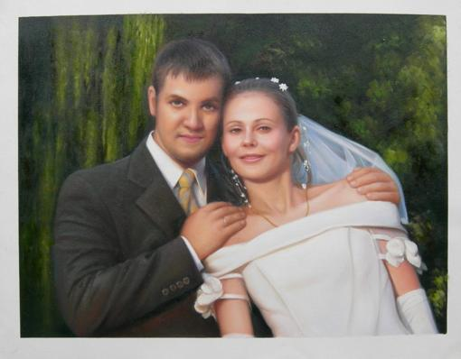 Bride and Groom's Oil Portrait