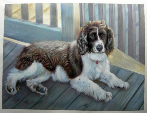 Dog Oil Portrait